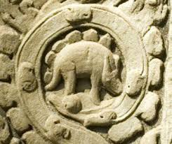 Stegosaurus Cambodia Ankor Wat